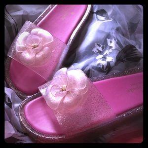 Kate Spade New York Glitter Jelly Sandal  Sz 8